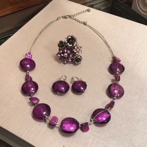 Jewelry - Necklace, Earrings and Ring Bundle